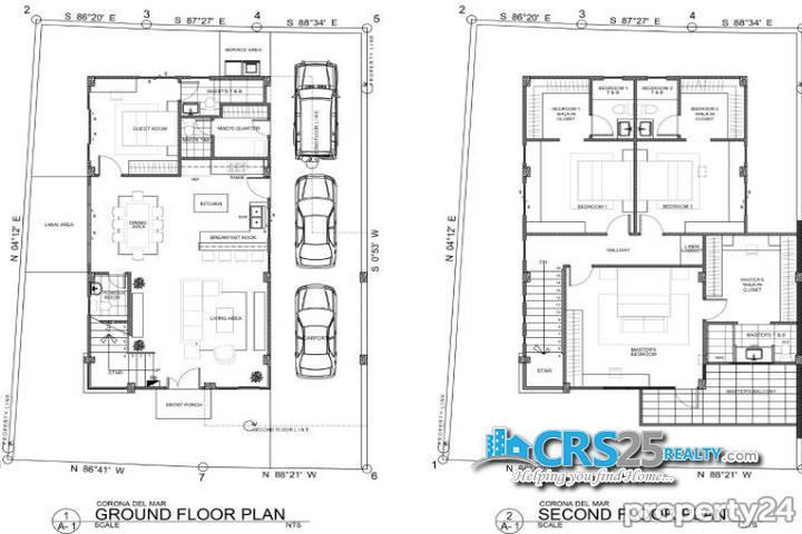 House for Sale in Corona del Mar Talisay Cebu Floor Plan
